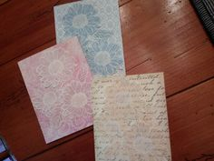 Set of Six Blank Floral Embossed Note Cards by cardstocker on Etsy