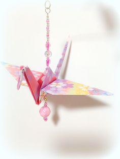 Hanging Origami Cranes Fancy Origami Mobile by FlyingCraneOrigami