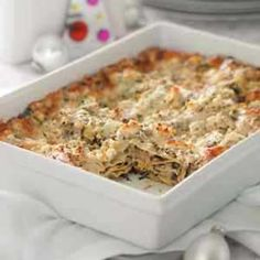 Artichokes and spinach star in this delicious vegetarian lasagna.