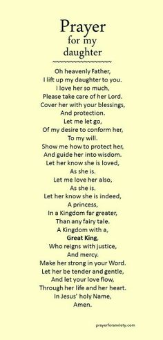 Prayer for my daughter jesus oraciones, hablando con dios, p Bible Quotes, Me Quotes, Bible Verses, Scriptures, Child Quotes, Prayer Quotes, Prayers For My Daughter, To My Daughter, Bible Verse For Daughter