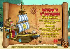 JAKE and the neverland Pirates invitation FREE Thank by UNIQcards