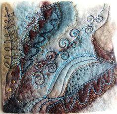 SALE Sumptuous miniature textile art