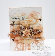 Tiffanys Paper Designs: Thinking of you. Mixed media card