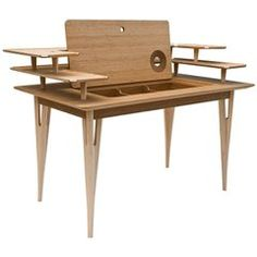 """""""Victor"""" Maple and Bamboo Writing Desk Designed by Mario Airo for Adele-C"""