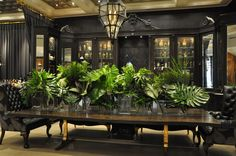 cuban fern tablescape - Google Search