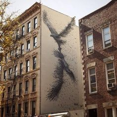 Street Art @GoogleStreetArt shared on Twitter ~ Artist @daleast extraordinary new large scale nature in Street Art mural located St.Marks, NYC #art #streetart pic.twitter.com/mV1q1O8OPq ><3<