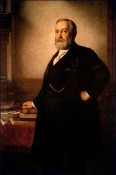 This vintage American History painting features President Benjamin Harrison. Painted by Eastman Johnson, Celebrate U. Presidential History with this digitally restored vintage painting from The War Is Hell Store. List Of Presidents, Presidents Wives, American Presidents, American History, Republican Presidents, Republican Party, American Art, Official Presidential Portraits, William Henry Harrison