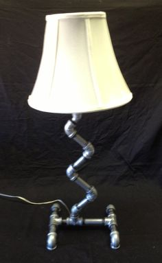 Table Lamp - Free Standing - Handmade - Unique Design - Galvanized Pipe - Free Shipping on Etsy, $99.00