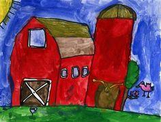 Art Projects for Kids: Kieran's Red Barn