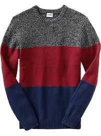 Men's Marled Color-Block Sweaters