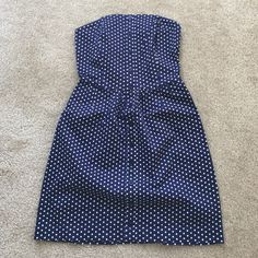 Heritage 1981 strapless polka dress S/P worn once,color is navy blue with white polka dots,very cute,❌NO TRADE‼️ Heritage 1981 Dresses Strapless
