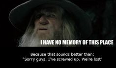 Gandalf just knows how to properly use his words.