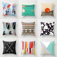 Society6 pillows via maddesigninterest.blogspot.com