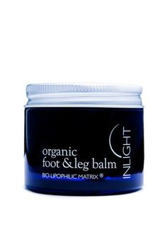 Inlight's Foot & Leg Balm contains witch hazel and cypress whose vasotonic and astringent properties act together with the healing and cytophylactic qualities of marigold, lavender and plantain to restore, calm and tone. Click throurh to learn more.