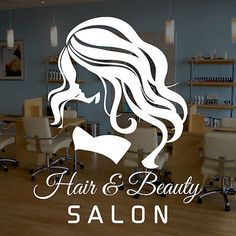 WOMAN-HAIR-BEAUTY-SALON-Vinyl-Window-Sticker-Decal-Business-Signs