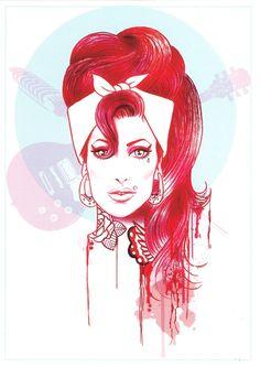 Imagen de la tarjeta de felicitación de Amy Winehouse Por Henry odio