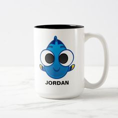 Finding Dory | Dory Emoji Two-Tone Coffee Mug - tap, personalize, buy right now! #TwoToneCoffeeMug  #finding #dory #dory #blue #tang Emoji Drawings, Funny Emoticons, Emoji Design, Emoji Pictures, Emoji Faces, Emoji Wallpaper, Finding Dory, Candy Jars, Pattern Drawing
