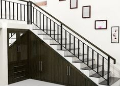 New tiny house stairs storage railings Ideas House With Balcony, Tiny House Stairs, Staircase Storage, Stair Storage, Balcony Railing Design, Staircase Design, Apartment Balconies, Cool Apartments, Interior Stairs