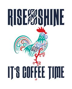 LostBumblebee ©2014 RISE and SHINE It's Coffee Time! Free Printable -Personal Use only