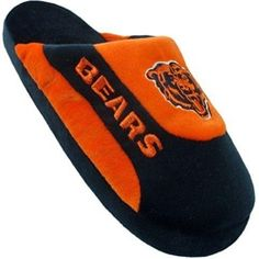 Chicago Bears Mens House Shoes Slippers - I'm love one of those my favorite team is Chicago Bears Men's House Shoes Slippers to stay inside my house to keep me warm and I have to wear my slippers on to go barefoot it in the house. Let's go Bears !