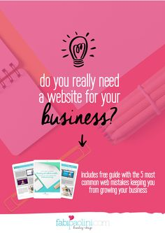 10 reasons why you need a website for your // Fabi Paolini