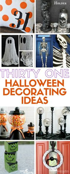 31 easy DIY craft tutorial to create your own Halloween Decorations. Ideas for spooky and the more light-hearted fun Halloween decor!