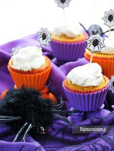 Kokosowe babeczki z dynią #babeczki #najsmaczniejsze #przepis #dynia #pumpkin #cake #halloween