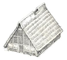 In Northern Central Europe it was common for tribes to build large housing that could accomodate several families.