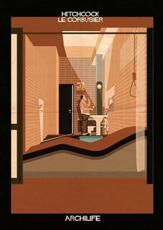 Federico Babina // Famous Actors inside Famous Houses   The talented Federico Babina has come up with a series of #artwork presenting #famous #actors inside famous #houses. Federico is an architect and illustrator from #Italy and created the new series of #illustrations called #Archilife, combining #architecture, #people and domestic activities.  Have a look at more of Federicos #art on his #website: http://federicobabina.com/