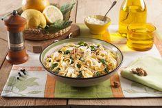 Recette Taglioni à la ricotta, aux épinards, noix et citron