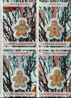 Festive Treats, cover page, page 2/4. These would look great done on plastic canvas.