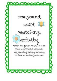 compound word activity - word work