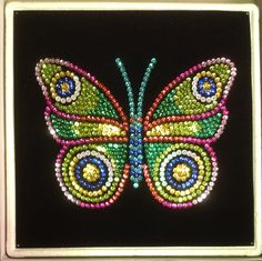 Sequin Art butterfly