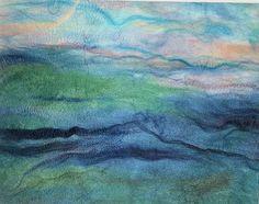 silk fusion painting