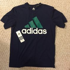 NEW Adidas Active Tee Navy Blue Climacool Youth XL or Women's small. Dry Fit Material. Great for athletes! Adidas Tops Tees - Short Sleeve