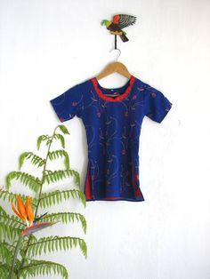 Vintage childs sari. Boho baby tunic. Royal by SwanDiveVintage, $20.00