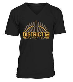 Archery T-Shirt Design - District 12 Team  #gift #idea #shirt #image #BestCancerIdeas #funnygiftshirt #videotv #gamingshirt