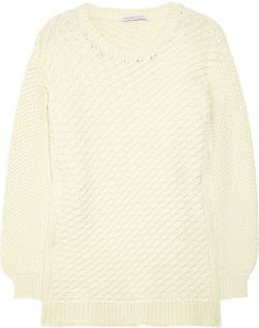 ShopStyle: See by Chloé Chunky-knit wool-blend sweater