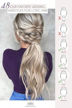 69 Best Wedding Hairstyles For Long Hair 2020 Don't know what to do with your long and voluminous hair for your upcoming nuptials? See our round-up of the best wedding hairstyles for long hair in the post. Prom Hairstyles For Long Hair, Wedding Hairstyles For Long Hair, Wedding Hair And Makeup, Diy Hairstyles, Pretty Hairstyles, Bridal Hair, Formal Hairstyles, Hairstyle Ideas, Prom Hair With Braid