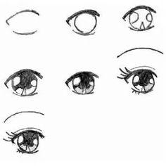 How to draw anime eyes - Quora