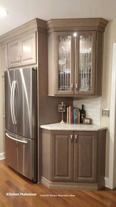 Farmhouse Kitchen Cabinets, Kitchen Cabinet Design, Kitchen Pantry, Interior Design Kitchen, New Kitchen, Kitchen Storage, Kitchen Decor, Kitchen Ideas, Kitchen Countertops