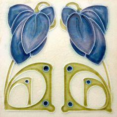 Art Nouveau Arts & Crafts Ceramic Tiles Fireplace Bathroom Kitchen an 52 Motifs Art Nouveau, Azulejos Art Nouveau, Design Art Nouveau, Ceramic Tile Art, Art Tiles, Porcelain Tiles, Ceramics Tile, Delft Tiles, Jugendstil Design