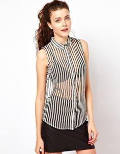 Vero Moda Stripe Sleeveless Shirt -ASOS