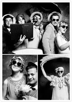 Even guests can be inspired by the 1920's and what fun to have a vintage style photo booth!    ginny-and-eds-wedding_19 from 100layercake