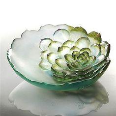 תוצאת תמונה עבור fused glass flowers