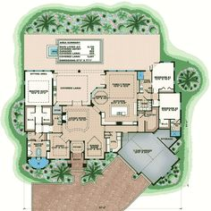 High End Florida House Plan - 66379WE   1st Floor Master Suite, Butler Walk-in Pantry, CAD Available, Contemporary, Den-Office-Library-Study, Florida, Luxury, MBR Sitting Area, PDF, Photo Gallery, Premium Collection, Split Bedrooms   Architectural Designs