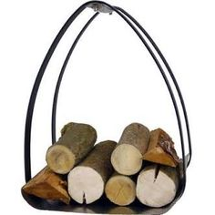 Vault Log Holder, perfect for storing fire wood next to your fireplace. Fireplace Tool Set, Fireplace Screens, Dcor Design, Modern Design, Log Carrier, Fallen Fruits, Log Store, Log Holder, How To Make Fire