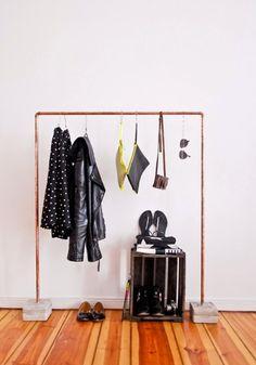 Small Space Solution: 15 DIY Garment Racks | Brit + Co