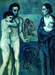 La Vida, según Picasso. Es una de las obras que más me emocionan. La muerte, la vida, el amor y la tragedia en la misma obra de un genio de 22 años