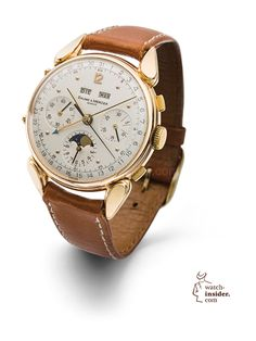 Baume & Mercier complete calendar chronograph watch from the 1950s